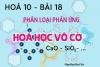 Phân loại phản ứng trong hóa học vô cơ, ví dụ và bài tập - hóa 10 bài 18
